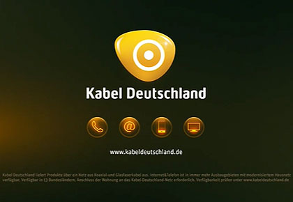 KABEL DEUTSCHLAND<BR>SOUNDTRACK AND SOUNDDESIGN BY KRANE & RABE | AGENCY: BUTTER DÜSSELDORF | PRODUCTION: FILMDELUXE